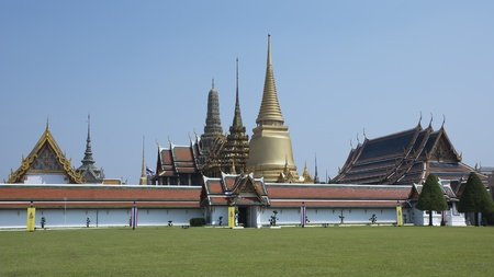 The Wat Phra Kaew - Temple of the Emerald Buddha (full official name Wat Phra Si Rattana Satsadaram) is regarded as the most sacred Buddhist temple (wat) in Thailand.