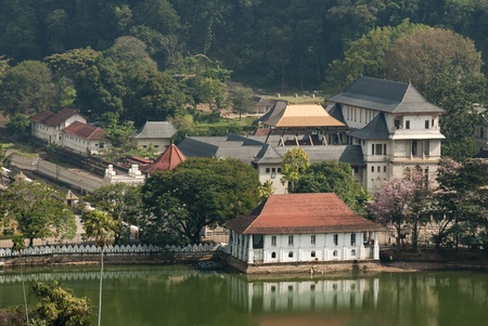 Sacred Tooth Relic Temple (Sri Dalada Maligawa) in Kandy, Sri Lanka. Stock Photo