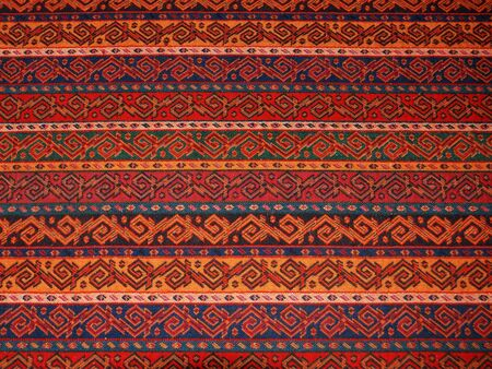 Close-up of an authentic textile pattern from Ankara, Turkey.