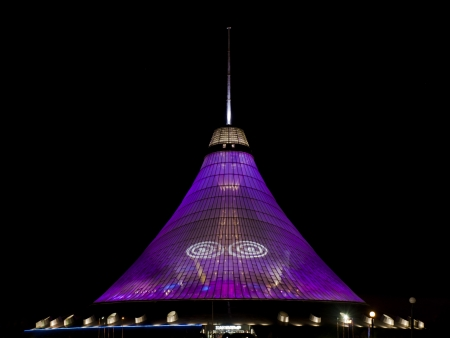 Khan Shatyr Entertainment Center, which is a landmark in Astana - Kazakhstan, is the highest tensile structure in the world