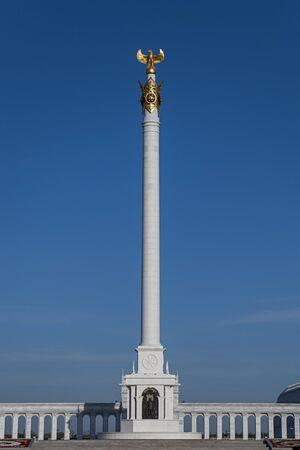Kazakh Yeli Monument is a landmark of Astana, Kazakhstan