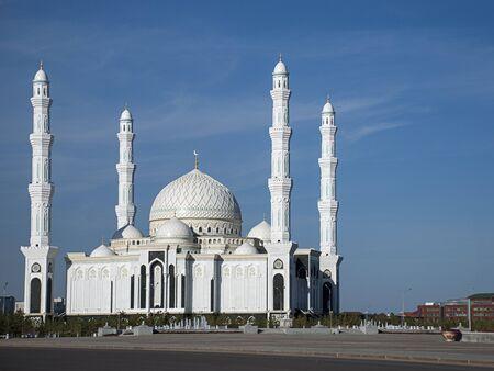 The Hazrat Sultan Mosque in Astana, Kazakhstan