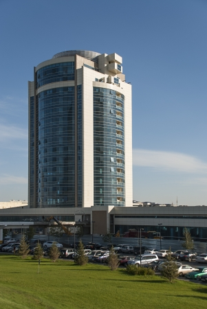 Office and Residential Building at Khan Shatyr Complex in Astana, Kazakhstan  Editorial