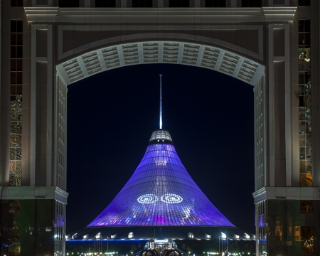 astana: Khan Shatyr Entertainment Center, which is a landmark in Astana - Kazakhstan, is the highest tensile structure in the world. Editorial