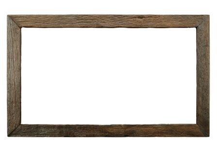 Isolated wooden frame made by wood burning technique.