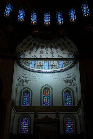 Ankara, Turkey - August 23, 2011: Interior of Kocatepe Mosque in Ankara, Turkey.