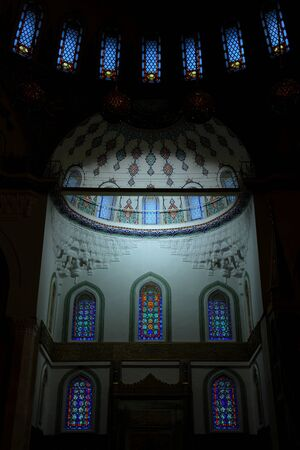 Ankara, Turkey - August 23, 2011: Interior of Kocatepe Mosque in Ankara, Turkey.