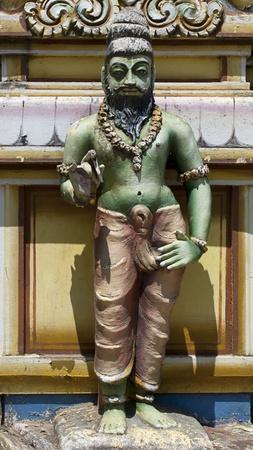 3d temple: Religious figures from Seetha Amman Temple at Sri Lanka. Stock Photo