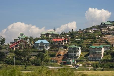 Blick auf H�gel Landh�user in Nuwara Eliya, Sri Lanka.