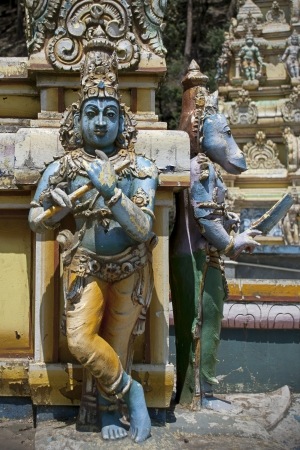 Religious figures from Seetha Amman Temple at Sri Lanka. Stock Photo