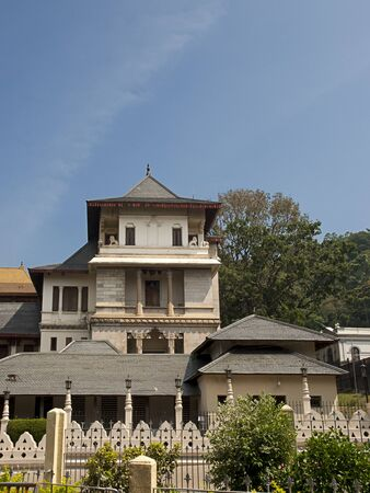 New Palace at Sacred Tooth Relic Temple  Sri Dalada Maligawa  in Kandy, Sri Lanka  This temple is a UNESCO World Heritage Site  Editorial