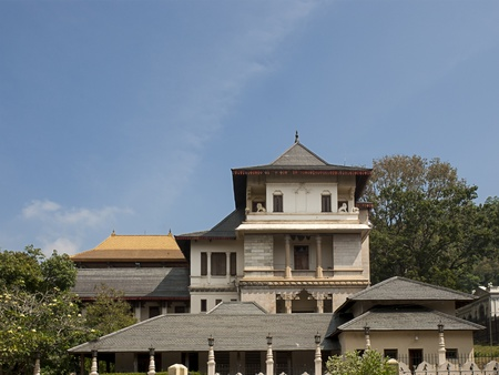 New Palace at Sacred Tooth Relic Temple (Sri Dalada Maligawa) in Kandy, Sri Lanka. This temple is a UNESCO World Heritage Site. Editorial