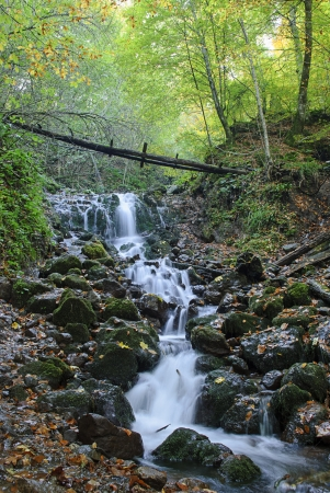 Cascade at Yedigoller (Seven Lakes) National Park in Bolu, Turkey.