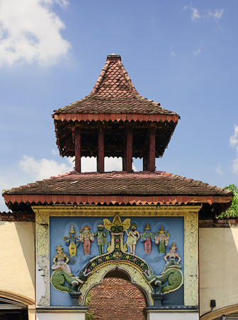 Entrance of a hindu temple in Kandy, Sri Lanka.