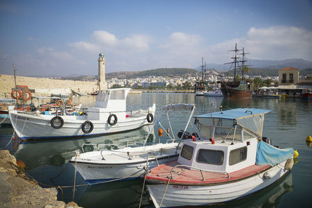 rethymno: Rethymno,on of the oldest ports in Crete Editorial