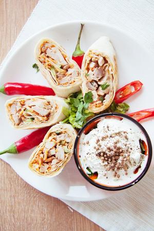 armenian: armenian shawarma on plate