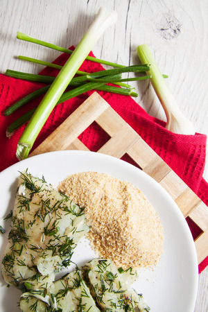 marinated cod willet with dill