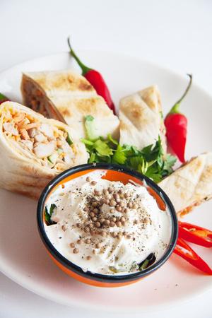 armenian shawarma on plate