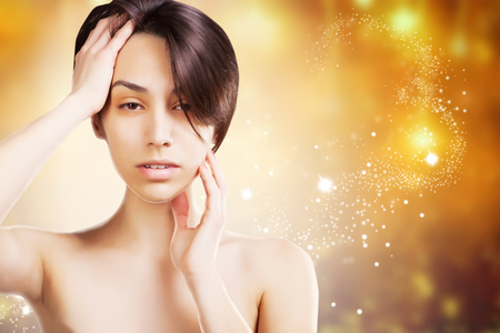 sexy asian model spa studio portrait