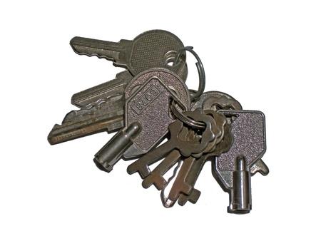 Old keys on a keyring
