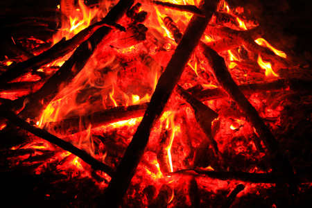 The core of a sizzling campfire Stock Photo