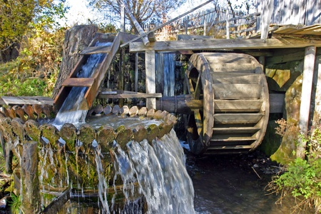 watermill: An old water-mill in Transylvania Stock Photo