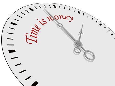 Time is money written on a watch Vector