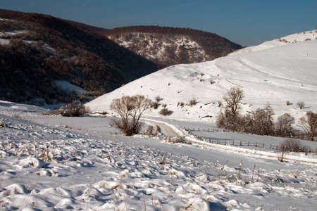 A lonely, snow-covered valley in winter Stock Photo - 12743141