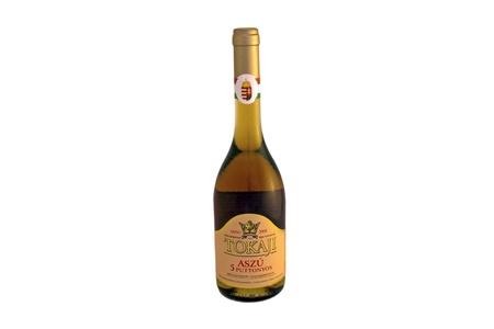 A bottle of 5 puttonyos Tokaji aszú wine