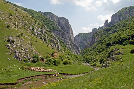 View of the famous canyon near Turda in Romania