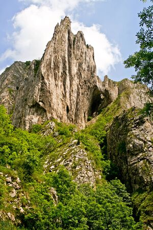 A cape in the famous canyon Turda Gorges, Romania Stock Photo
