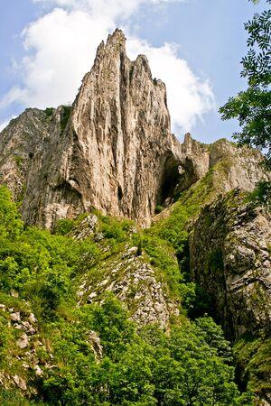 turda: A cape in the famous canyon Turda Gorges, Romania Stock Photo