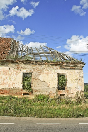Abandoned house where the nature lives now Stock Photo - 13557192
