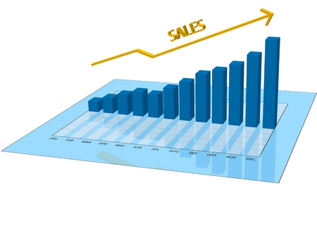 Vector graphic of a graph about sales Vector