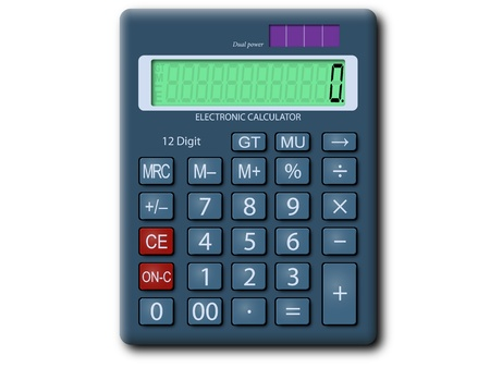 modifiable: Vector graphic of a calculator  Arranged layers structure, fully modifiable