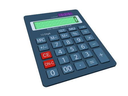 modifiable: 3D graphic of a calculator. Arranged layes structure, fully modifiable.