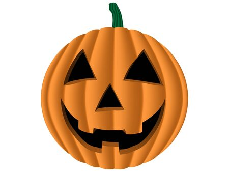 carved pumpkin: graphics of a carved pumpkin isolated on white