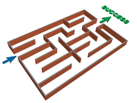 grahic: grahic of a maze that leads to success Illustration