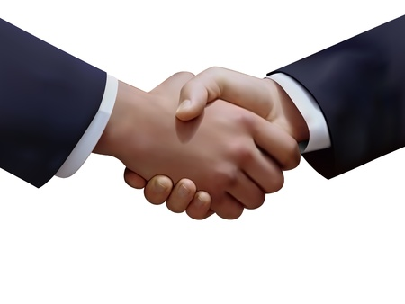 graphic of the handshake of two businessmen