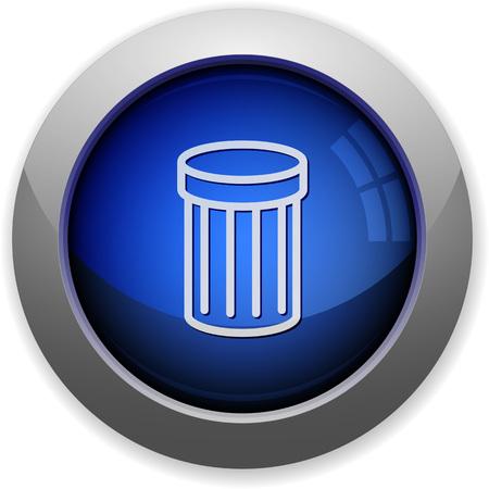 purge: Blue glossy trash web button