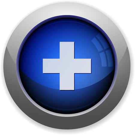 background business: Blue glossy plus web button