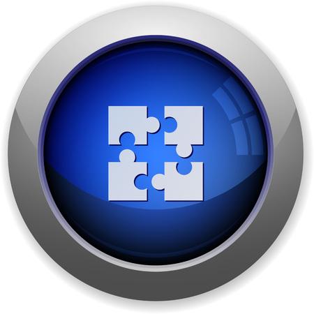 plugin: Blue glossy plugin web button