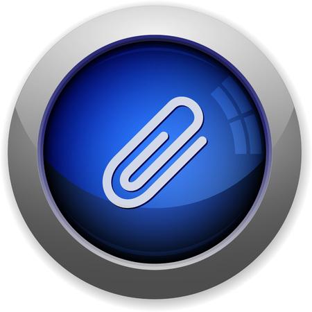 attachment: Blue glossy attachment web button