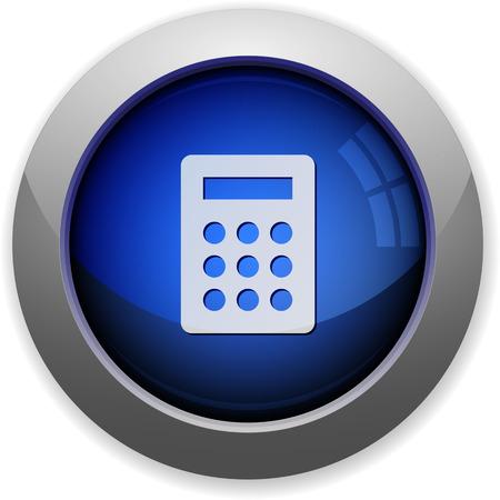 calc: Blue glossy calc web button