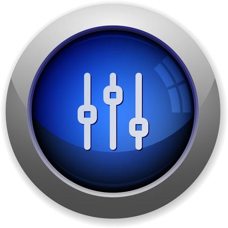 adjustment: Blue glossy vertical adjustment button