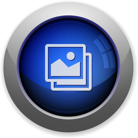 web button: Blue glossy images web button