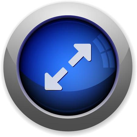resize: Blue glossy resize web button