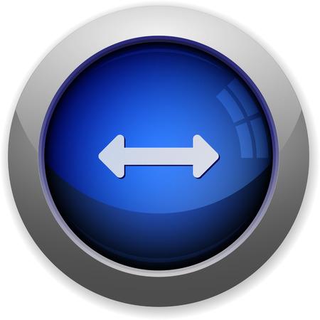resize: Blue glossy horizontal resize button