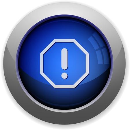 error: Blue glossy error web button Illustration