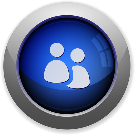 blue button: Blue glossy group web button